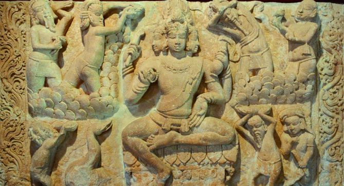Vedas first appears before Brahma