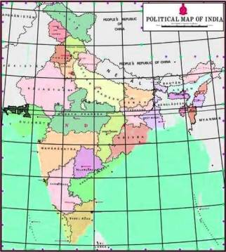New Map of India 2019